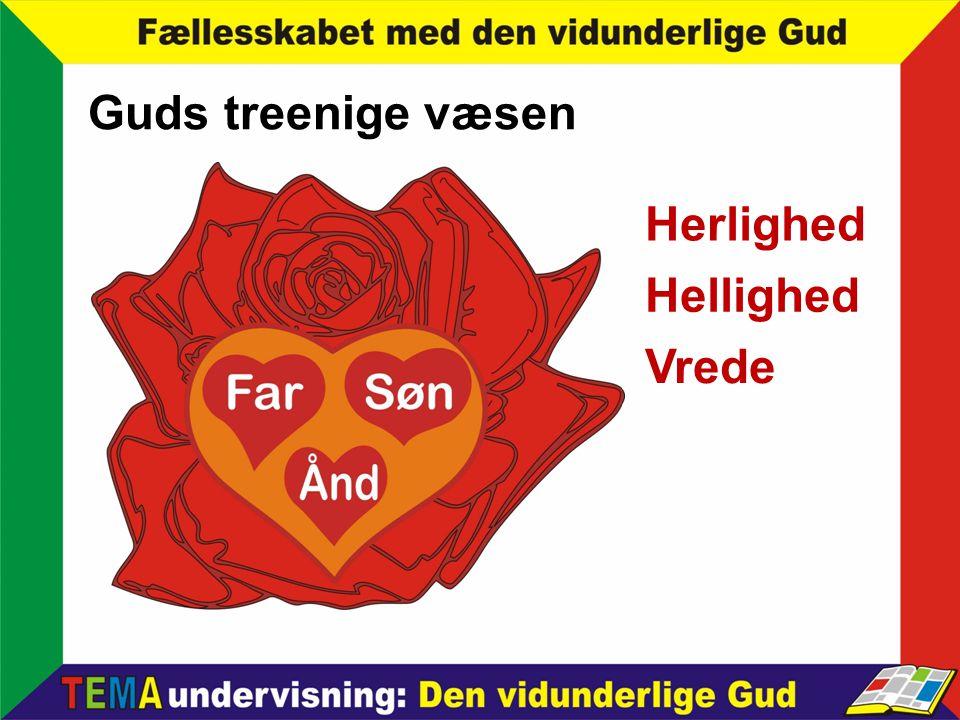 Guds treenige væsen Herlighed Hellighed Vrede