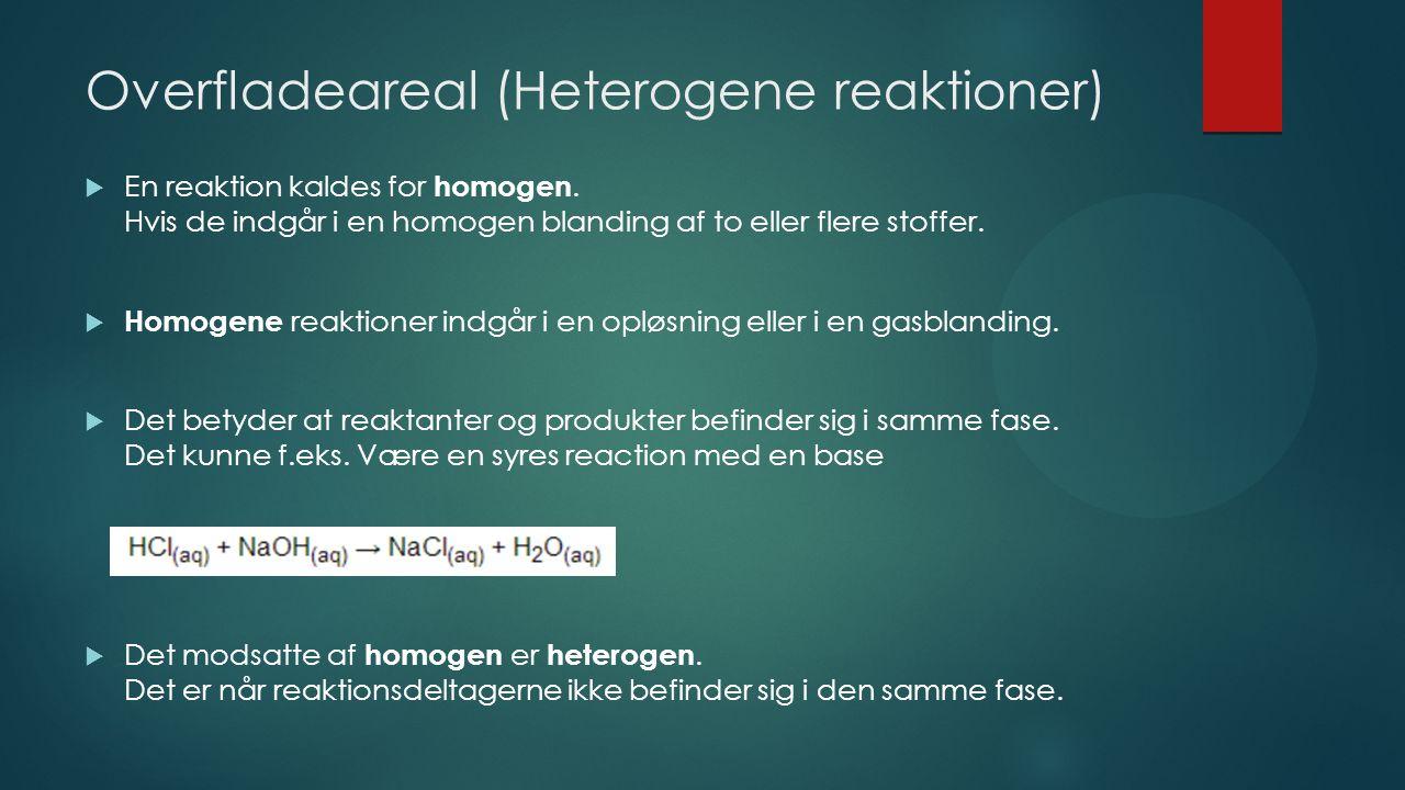 Overfladeareal (Heterogene reaktioner)