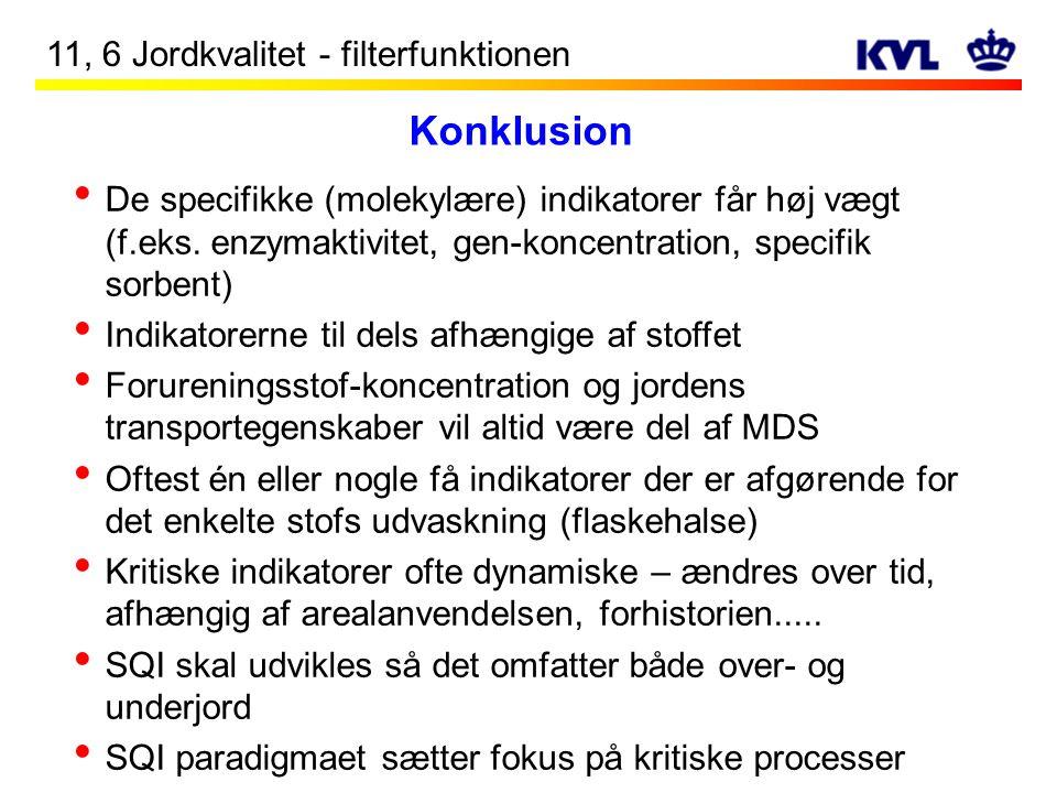 Konklusion 11, 6 Jordkvalitet - filterfunktionen