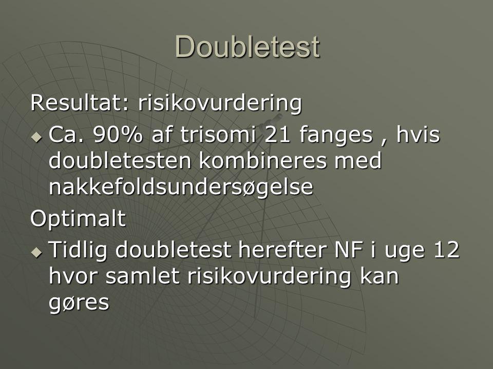 Doubletest Resultat: risikovurdering