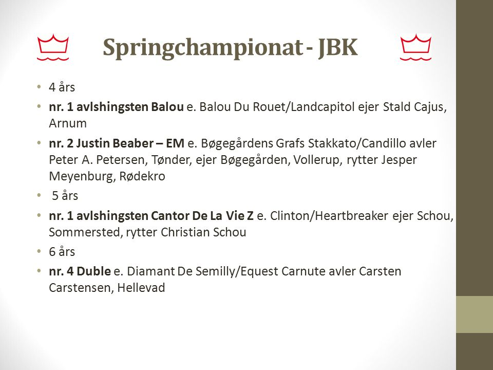Springchampionat - JBK