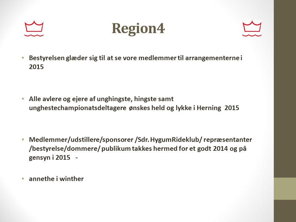 Region4 Bestyrelsen glæder sig til at se vore medlemmer til arrangementerne i 2015.
