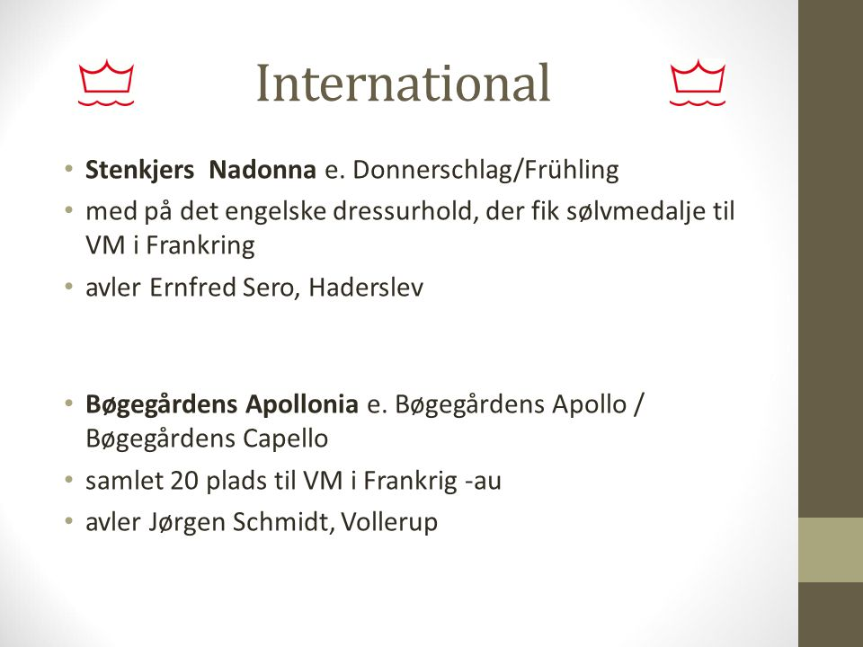 International Stenkjers Nadonna e. Donnerschlag/Frühling