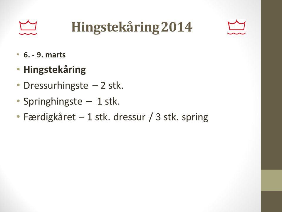 Hingstekåring 2014 Hingstekåring Dressurhingste – 2 stk.