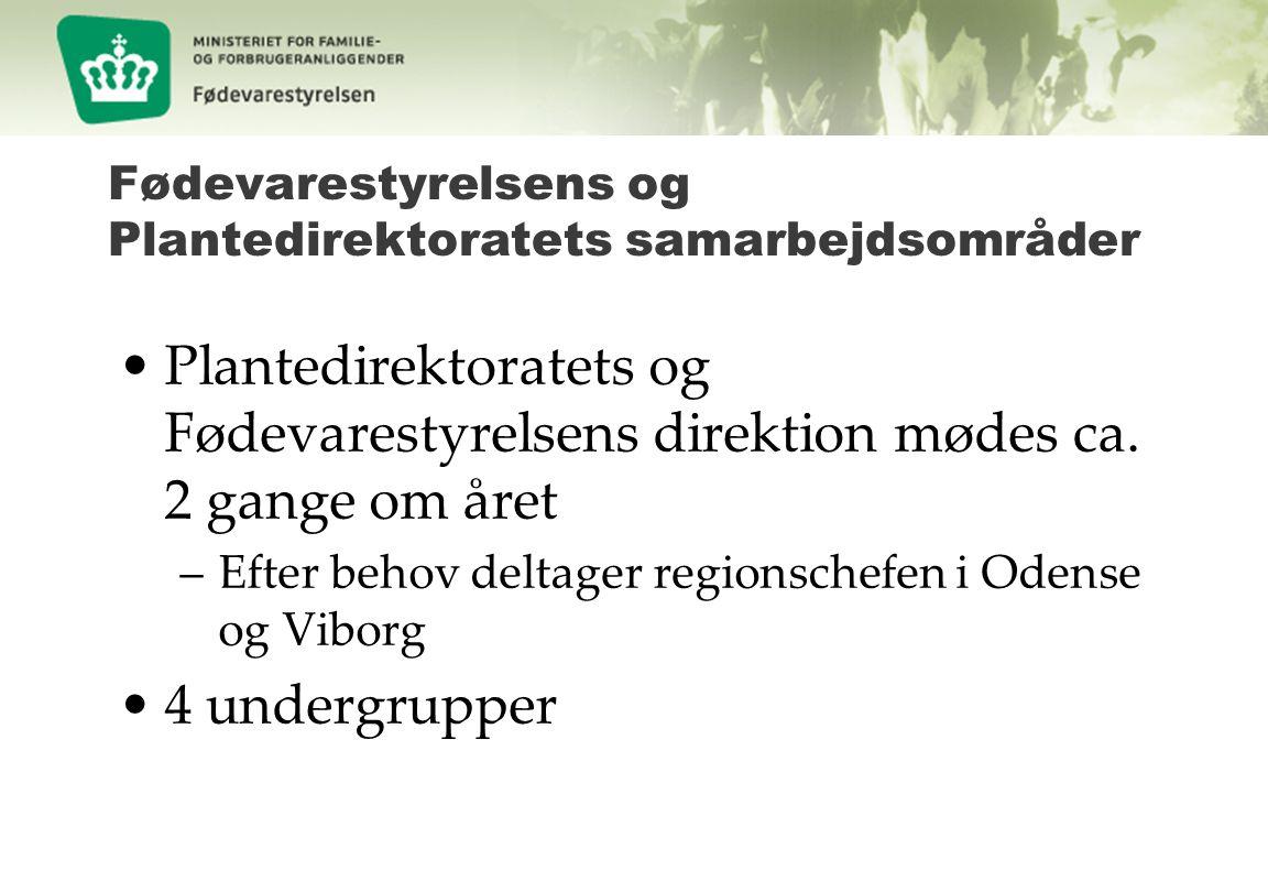Fødevarestyrelsens og Plantedirektoratets samarbejdsområder