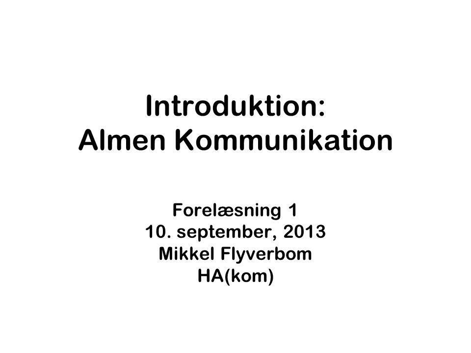 Introduktion: Almen Kommunikation
