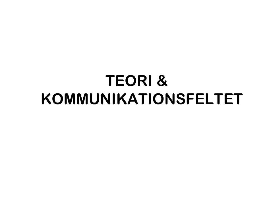 TEORI & KOMMUNIKATIONSFELTET