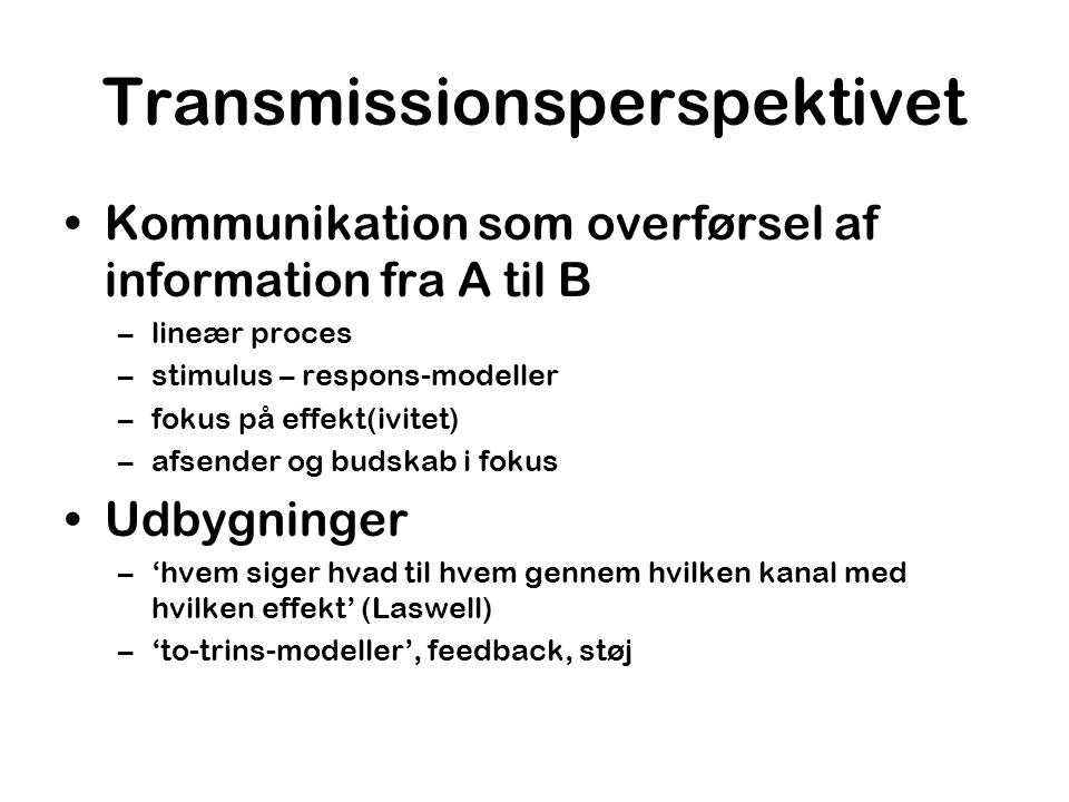Transmissionsperspektivet