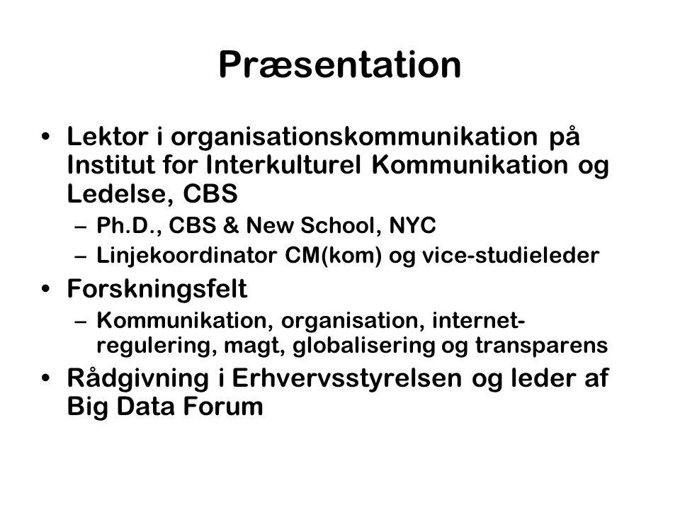 Præsentation Lektor i organisationskommunikation på Institut for Interkulturel Kommunikation og Ledelse, CBS.