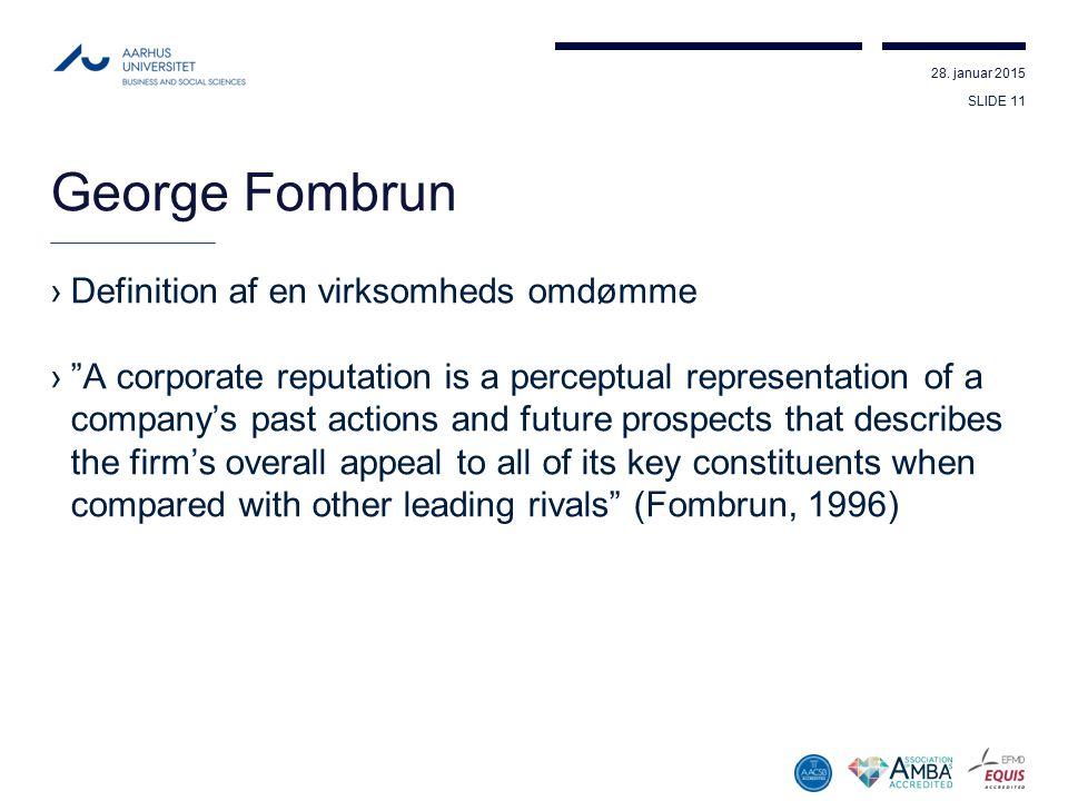 George Fombrun Definition af en virksomheds omdømme