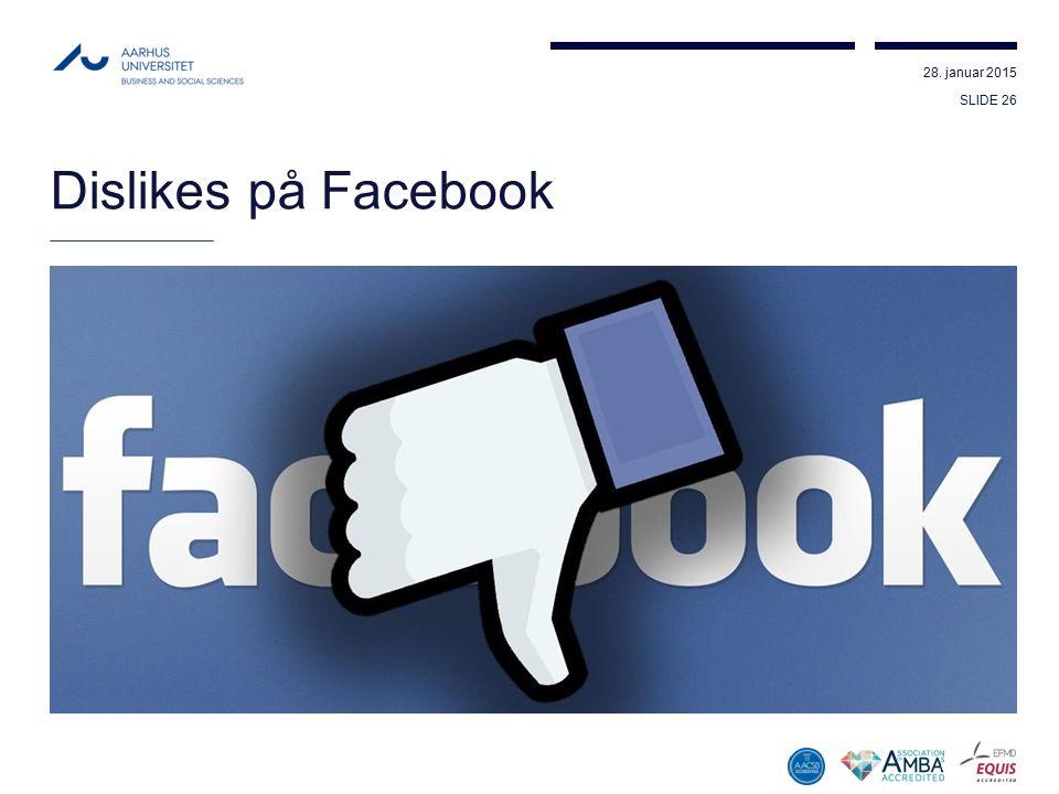 Dislikes på Facebook