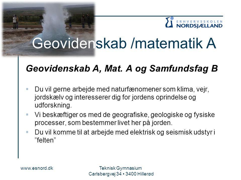 Geovidenskab /matematik A