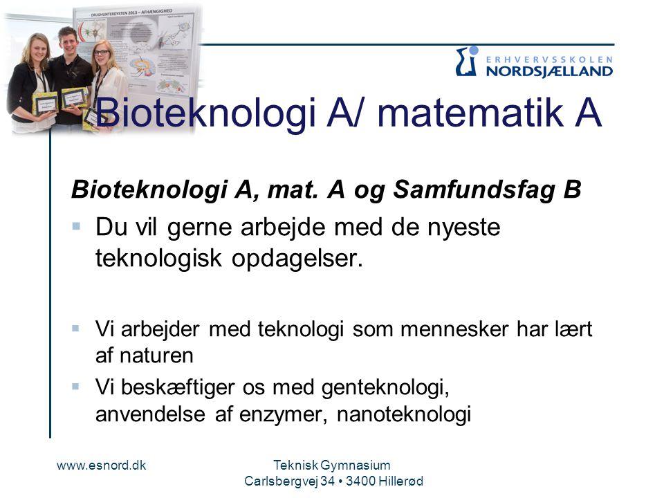 Bioteknologi A/ matematik A