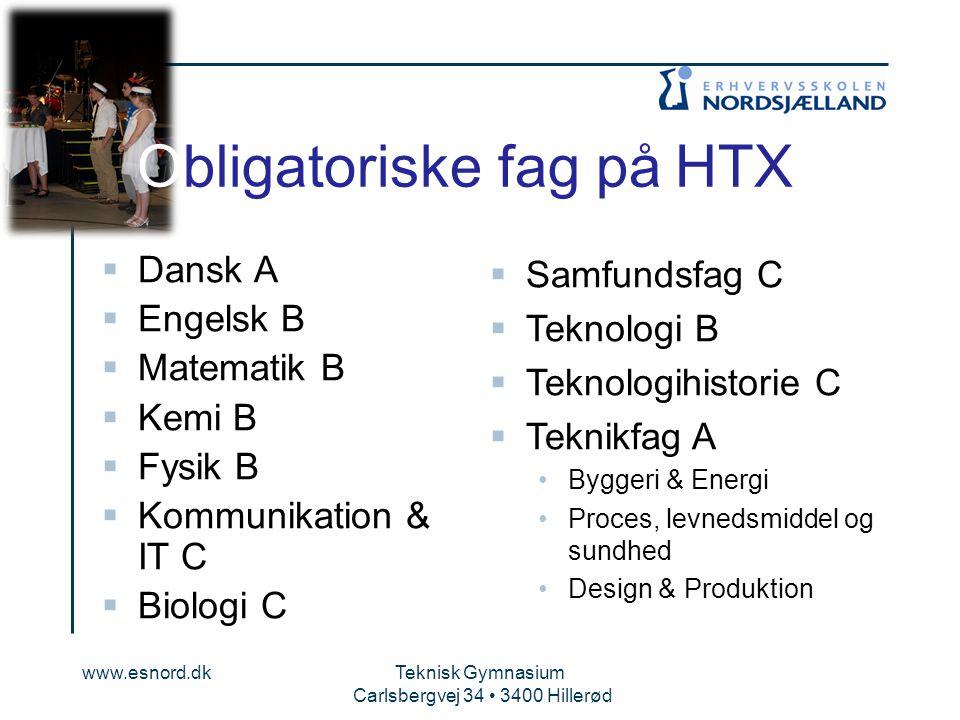 Obligatoriske fag på HTX