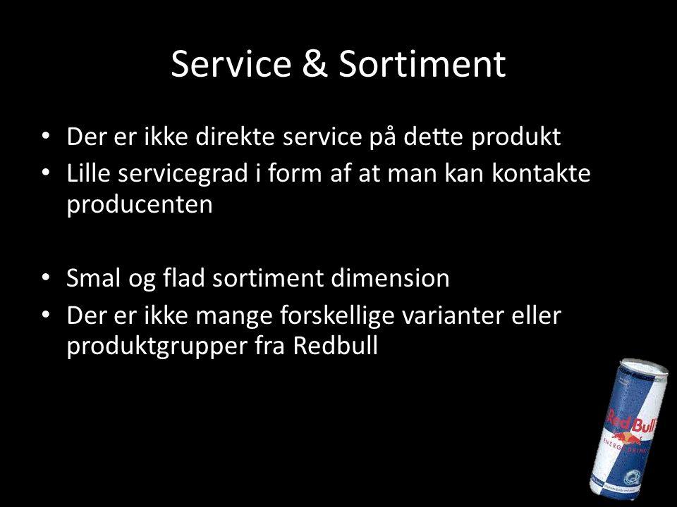 Service & Sortiment Der er ikke direkte service på dette produkt