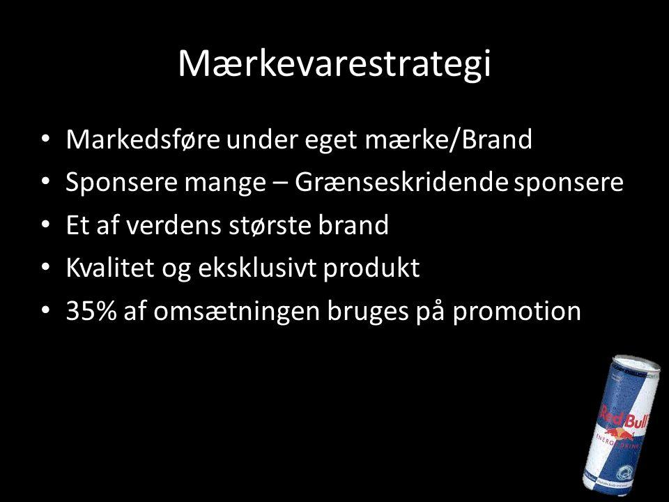 Mærkevarestrategi Markedsføre under eget mærke/Brand