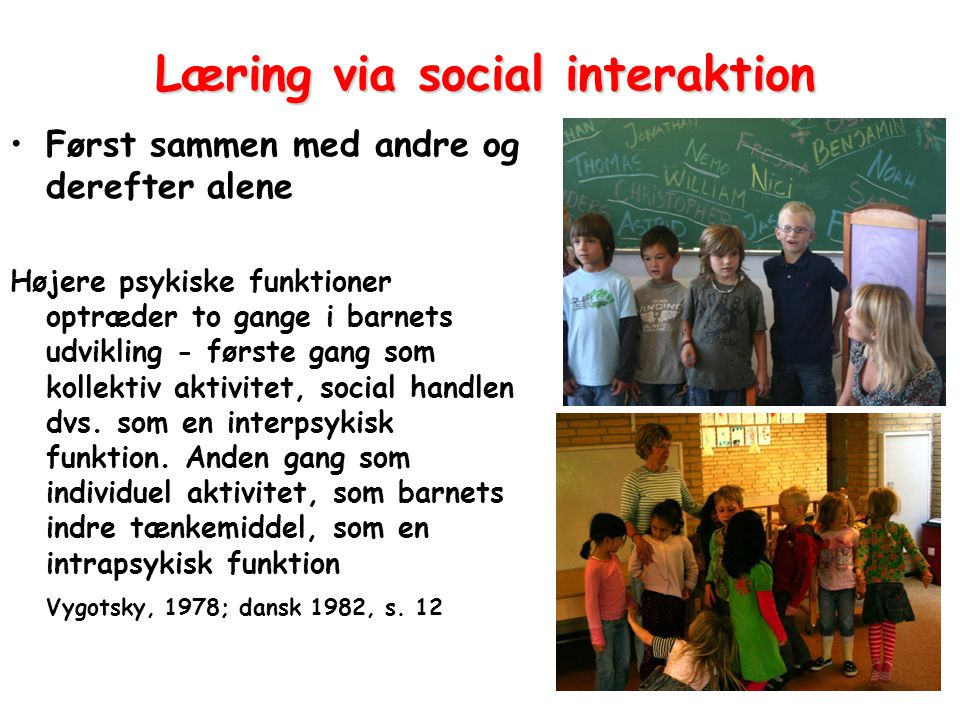 Læring via social interaktion