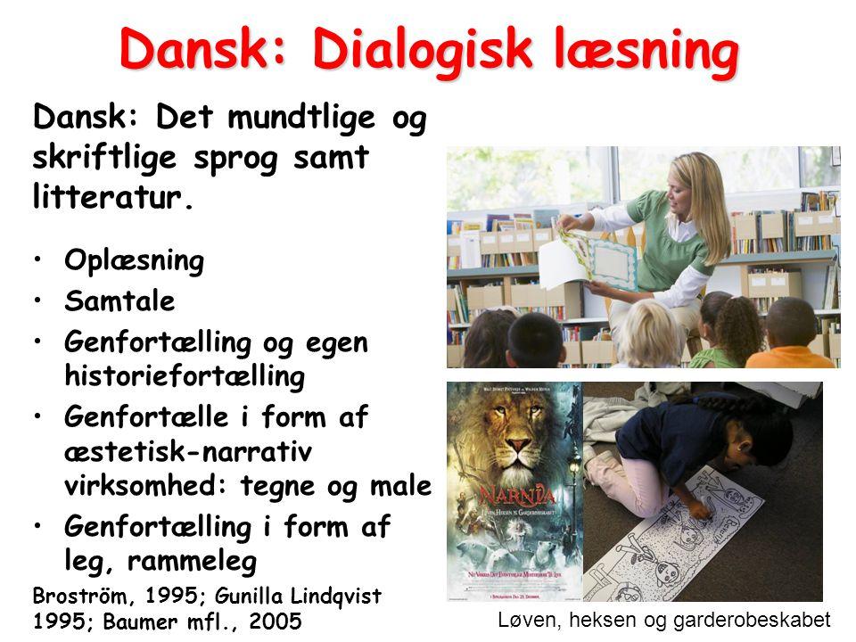 Dansk: Dialogisk læsning