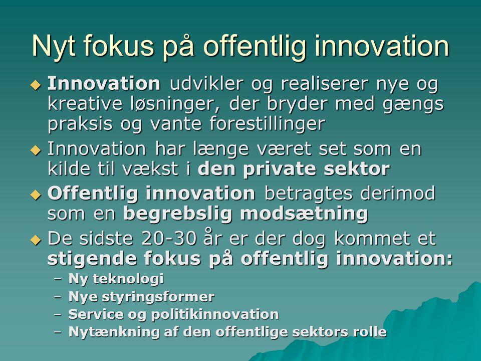 Nyt fokus på offentlig innovation