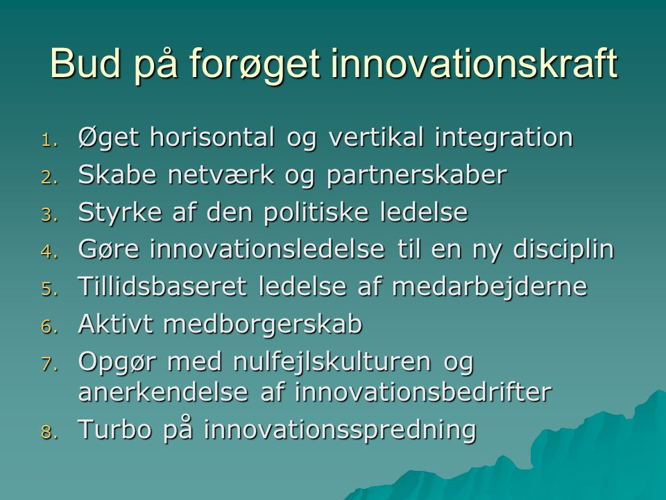 Bud på forøget innovationskraft