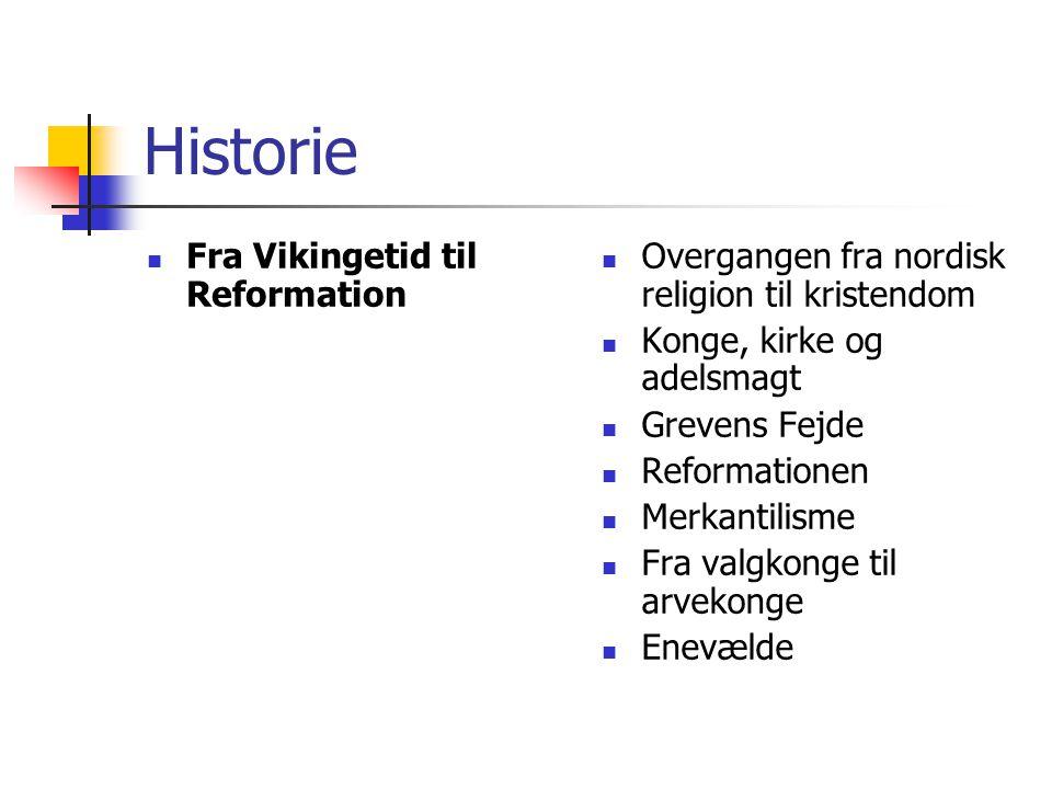 Historie Fra Vikingetid til Reformation