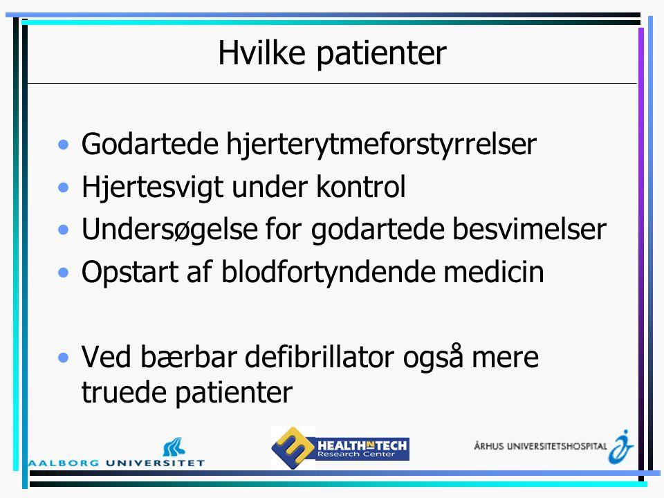 Hvilke patienter Godartede hjerterytmeforstyrrelser