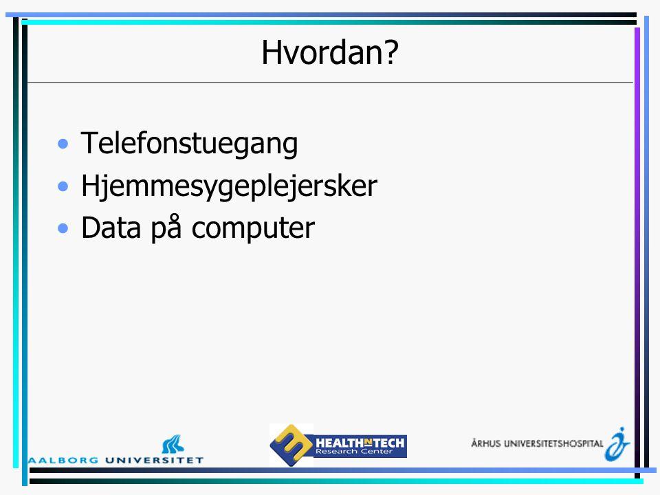 Hvordan Telefonstuegang Hjemmesygeplejersker Data på computer