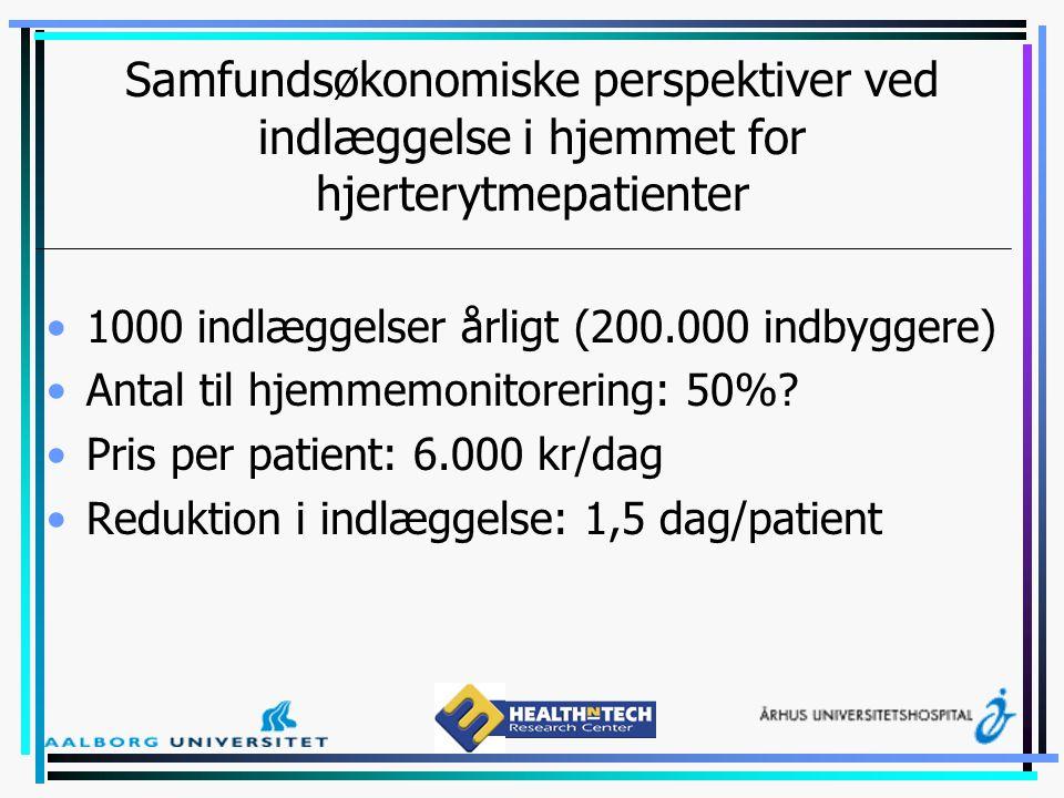 Samfundsøkonomiske perspektiver ved indlæggelse i hjemmet for hjerterytmepatienter