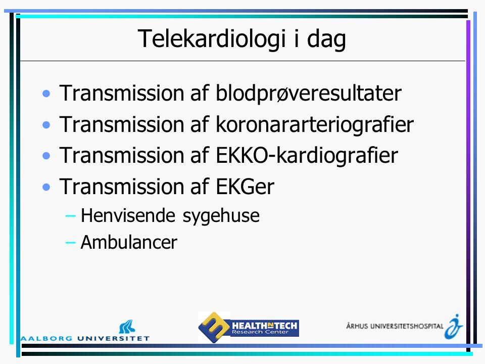 Telekardiologi i dag Transmission af blodprøveresultater