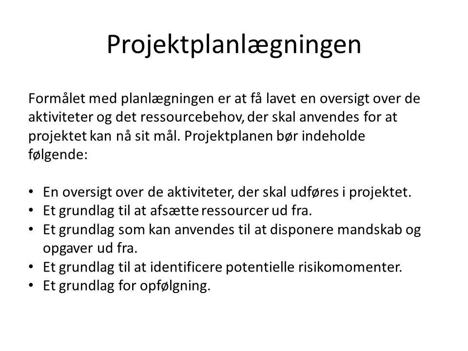 Projektplanlægningen