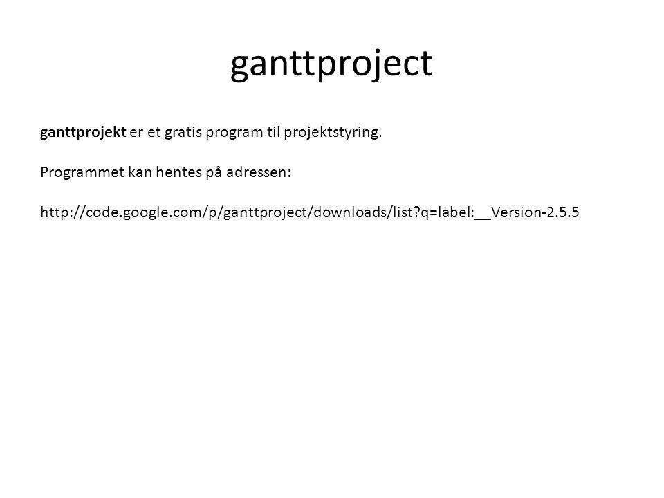 ganttproject ganttprojekt er et gratis program til projektstyring.