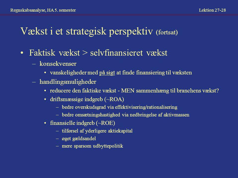 Vækst i et strategisk perspektiv (fortsat)