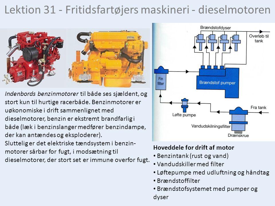 Lektion 31 - Fritidsfartøjers maskineri - dieselmotoren