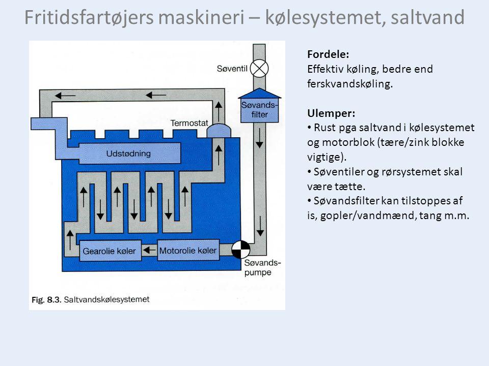 Fritidsfartøjers maskineri – kølesystemet, saltvand