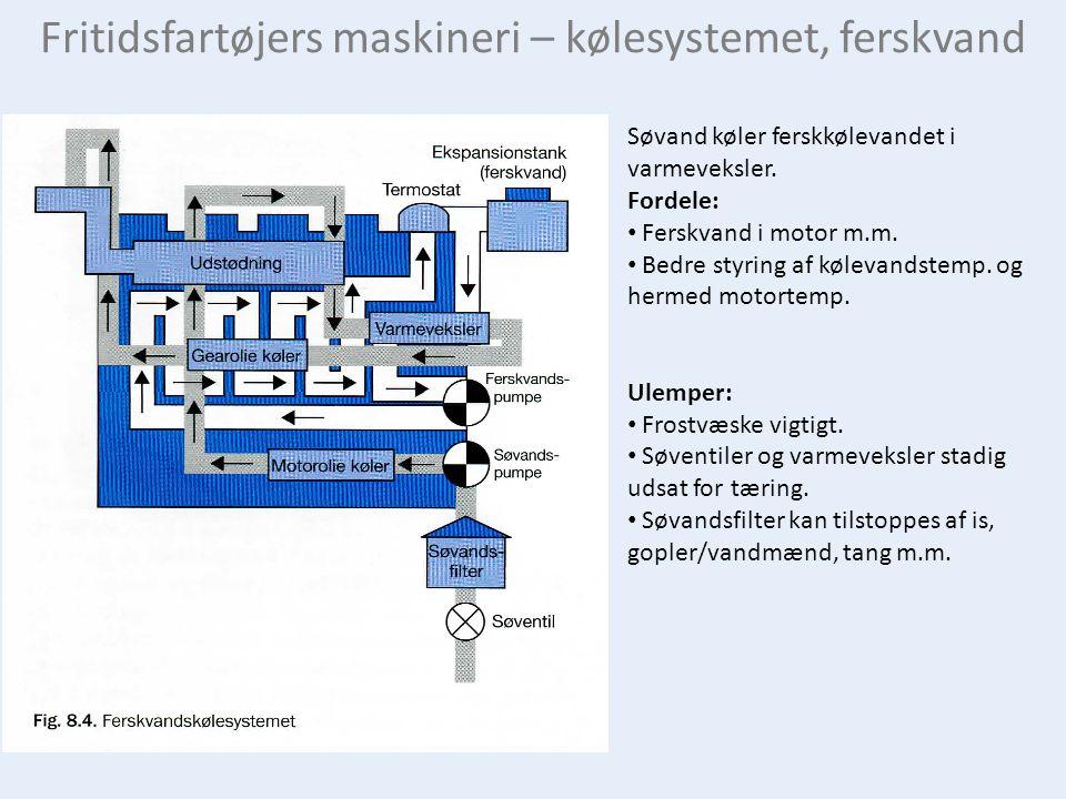 Fritidsfartøjers maskineri – kølesystemet, ferskvand
