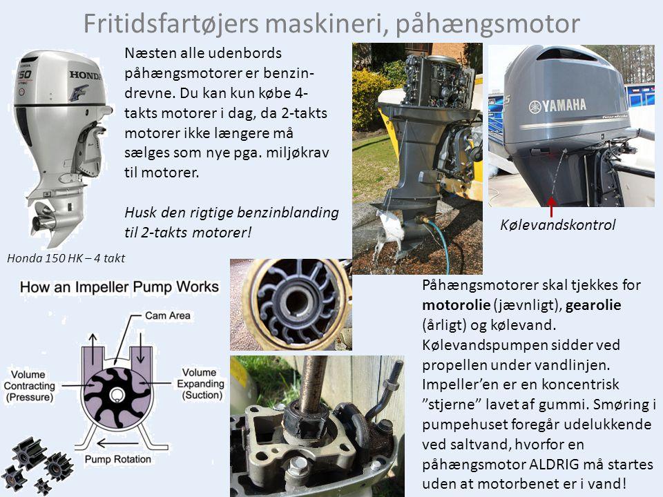 Fritidsfartøjers maskineri, påhængsmotor