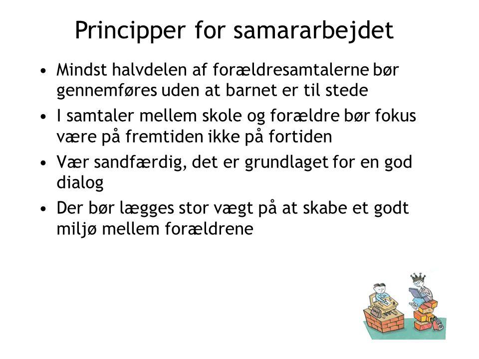Principper for samararbejdet