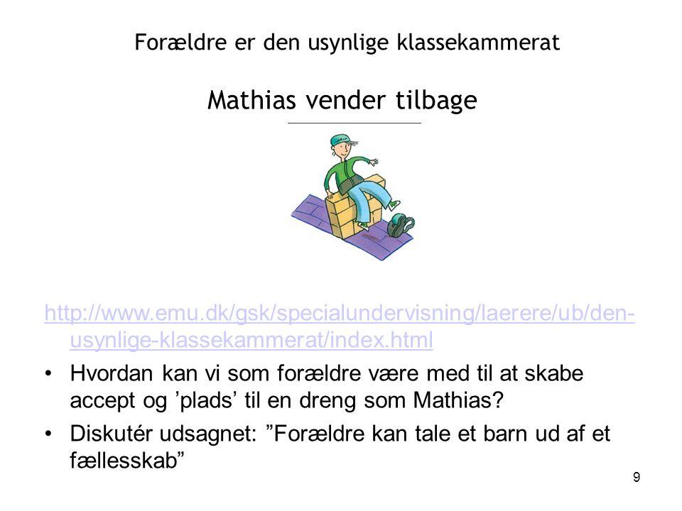 Mathias vender tilbage
