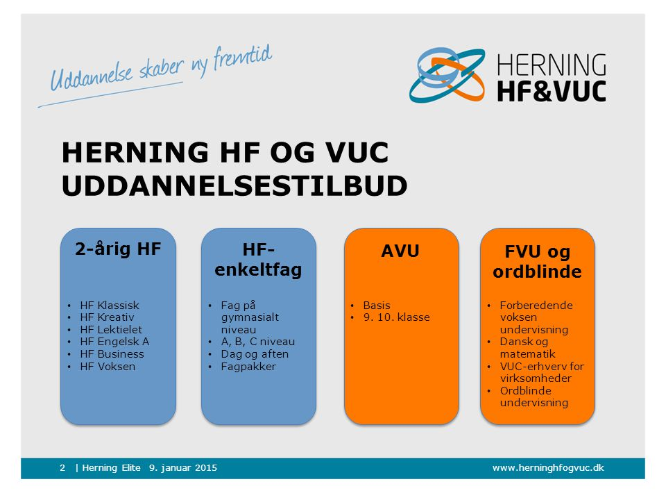 Herning HF og VUC Uddannelsestilbud