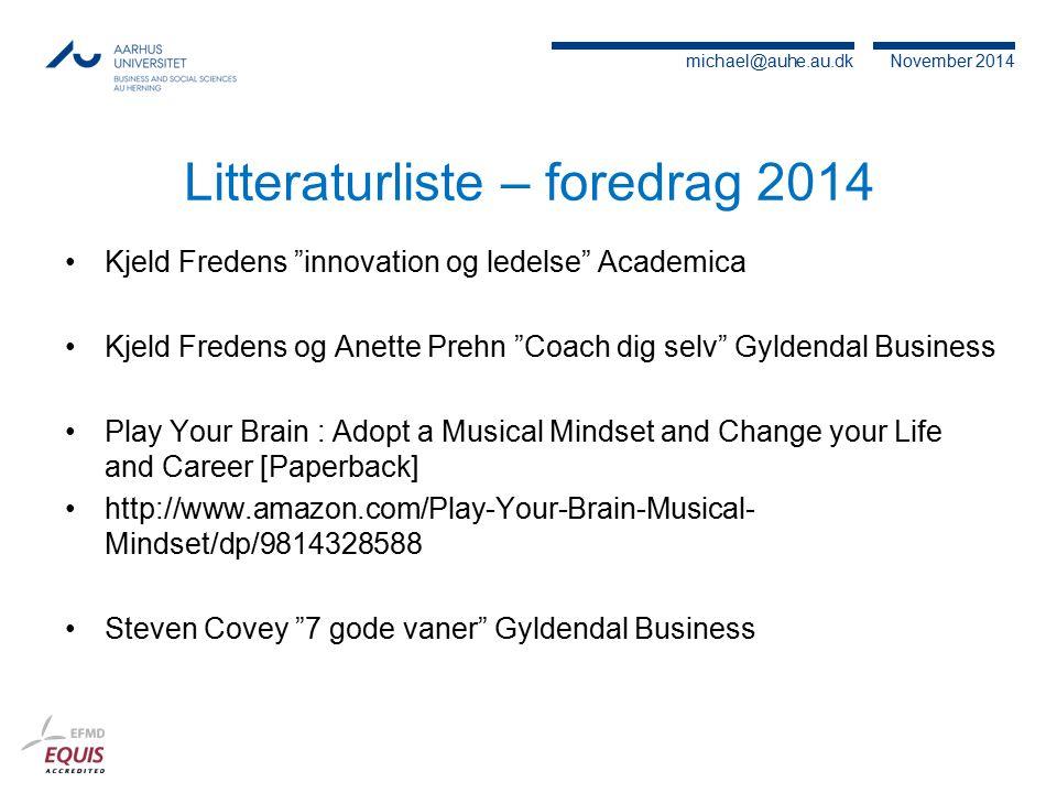 Litteraturliste – foredrag 2014
