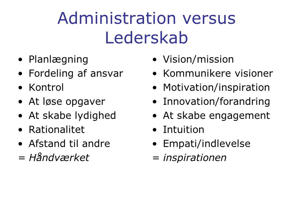 Administration versus Lederskab