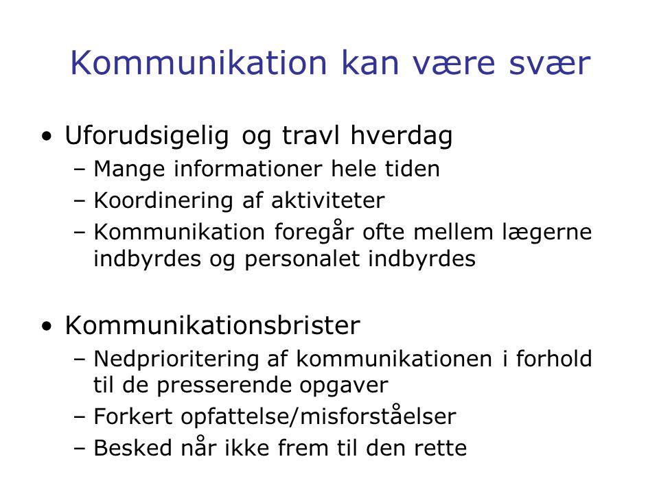 Kommunikation kan være svær