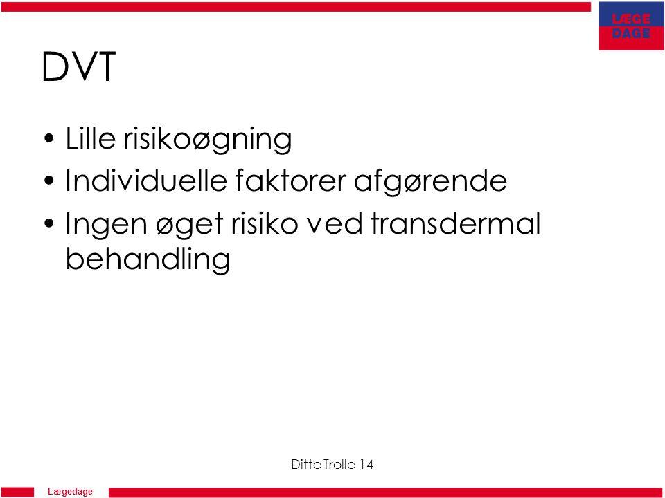 DVT Lille risikoøgning Individuelle faktorer afgørende