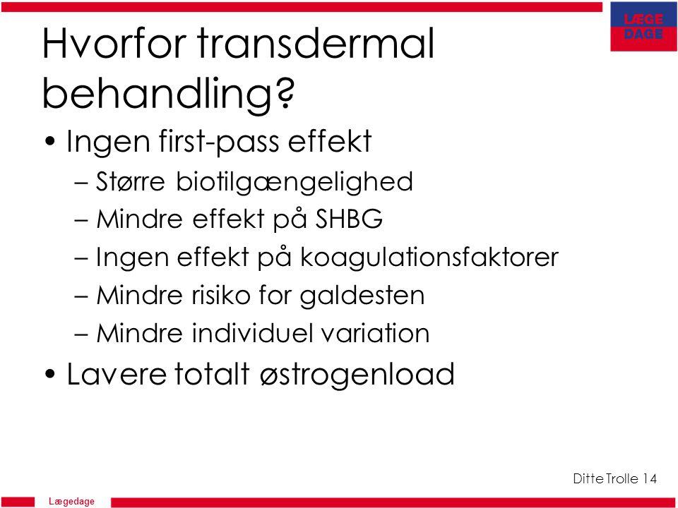 Hvorfor transdermal behandling