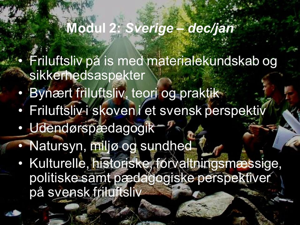 Modul 2: Sverige – dec/jan
