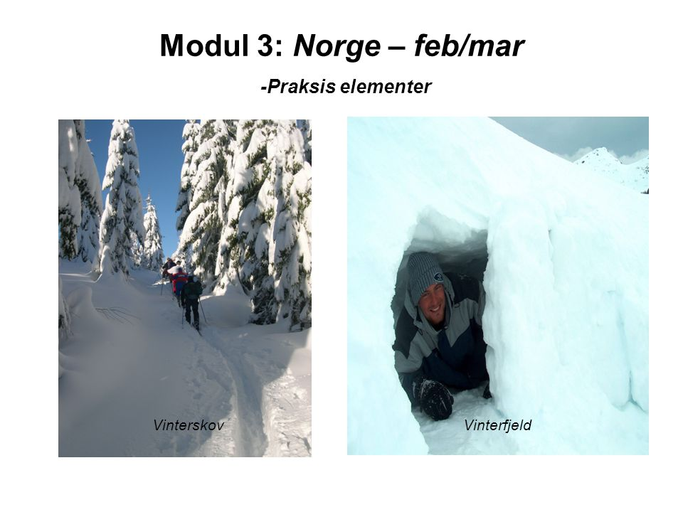 Modul 3: Norge – feb/mar -Praksis elementer