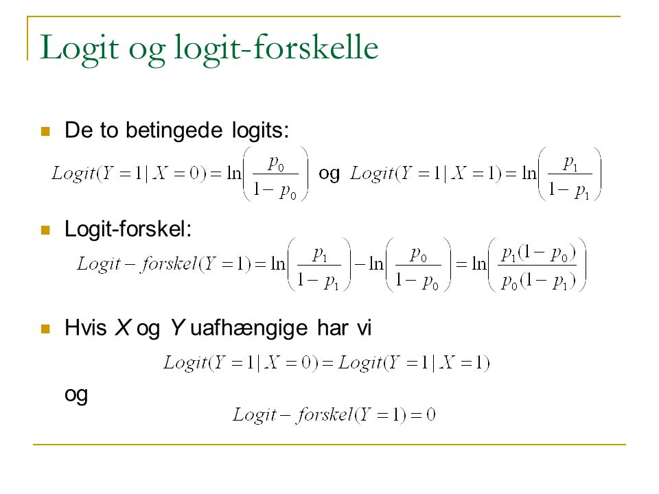 Logit og logit-forskelle