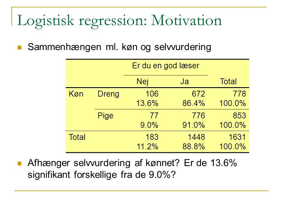 Logistisk regression: Motivation