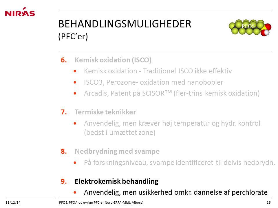 Behandlingsmuligheder (PFC'er)
