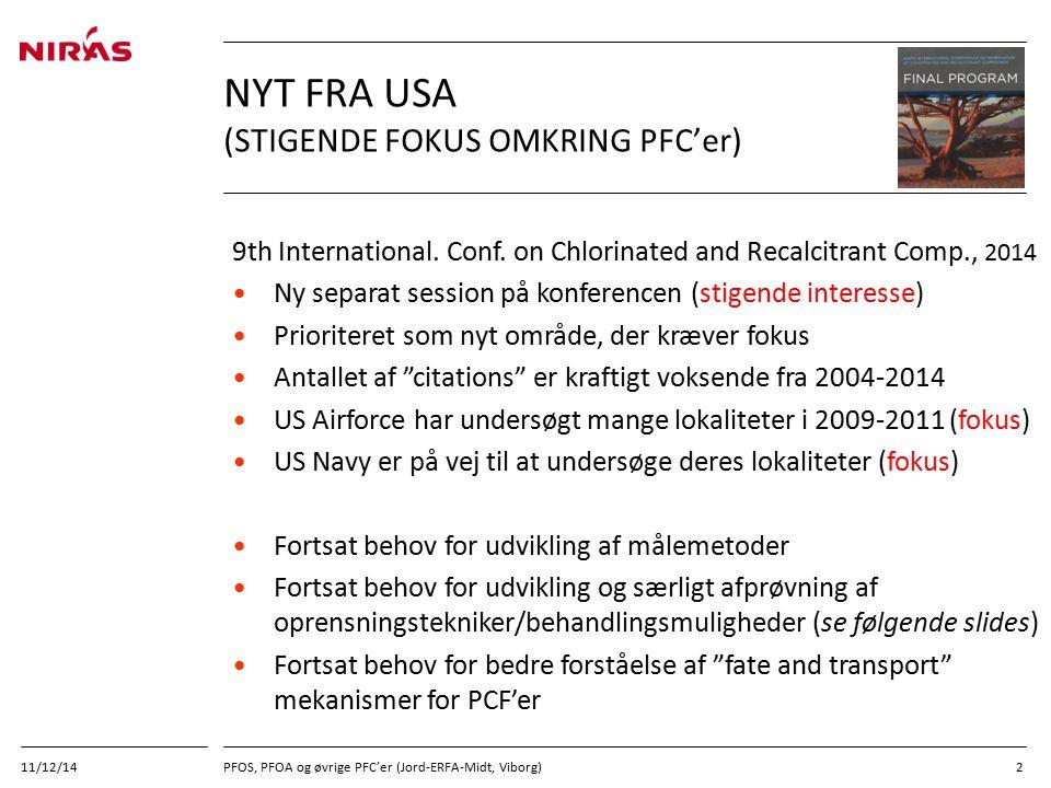Nyt fra USA (Stigende fokus omkring PFC'er)